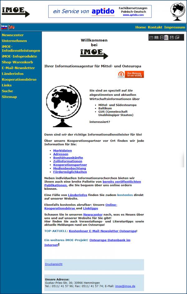 imoe wird GmbH in 2005