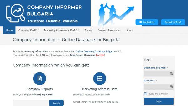 Company Informer: Online Company Database Bulgaria